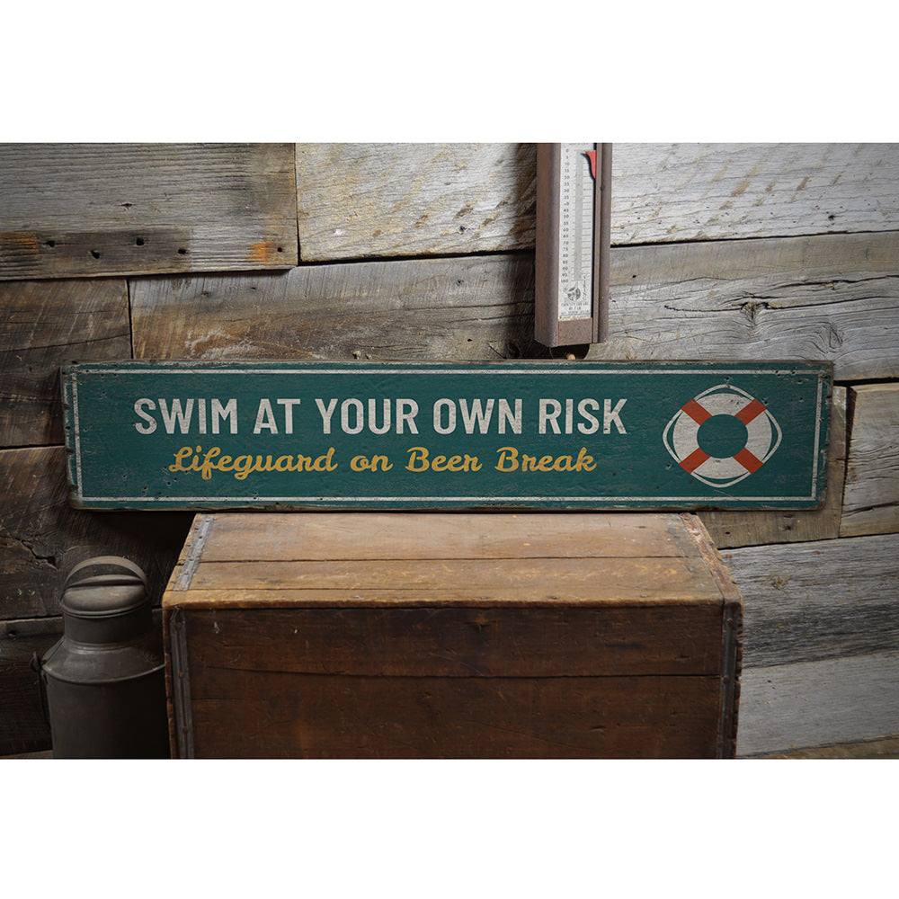 Flotation Device Vintage Wood Sign