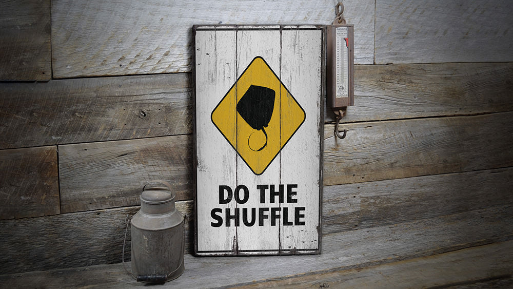 Stingray Shuffle Rustic Wood Sign
