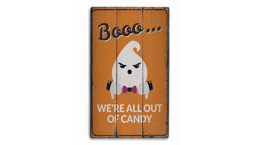 Boo Candy Rustic Wood Sign