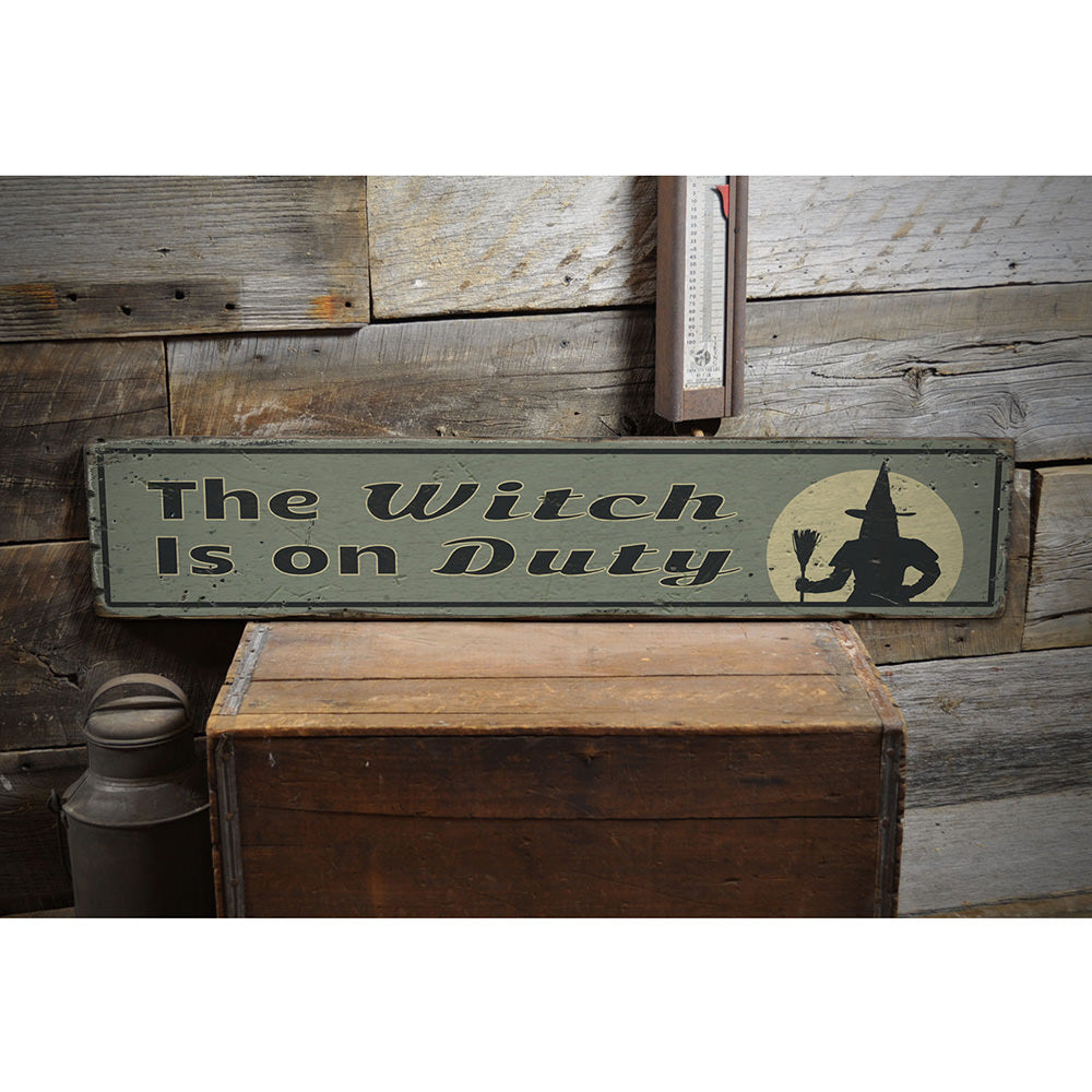 Wicked Witch Vintage Wood Sign
