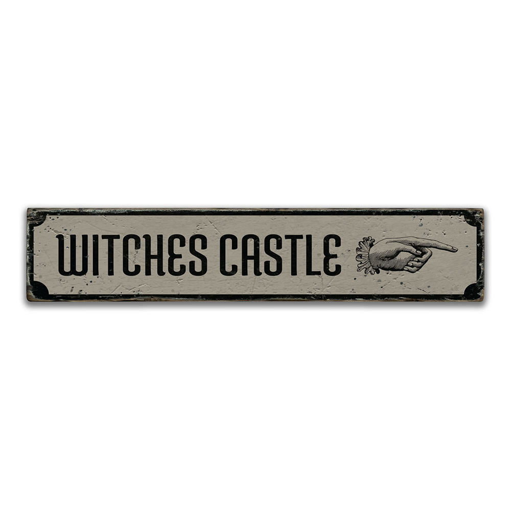 Witchs Castle Vintage Wood Sign