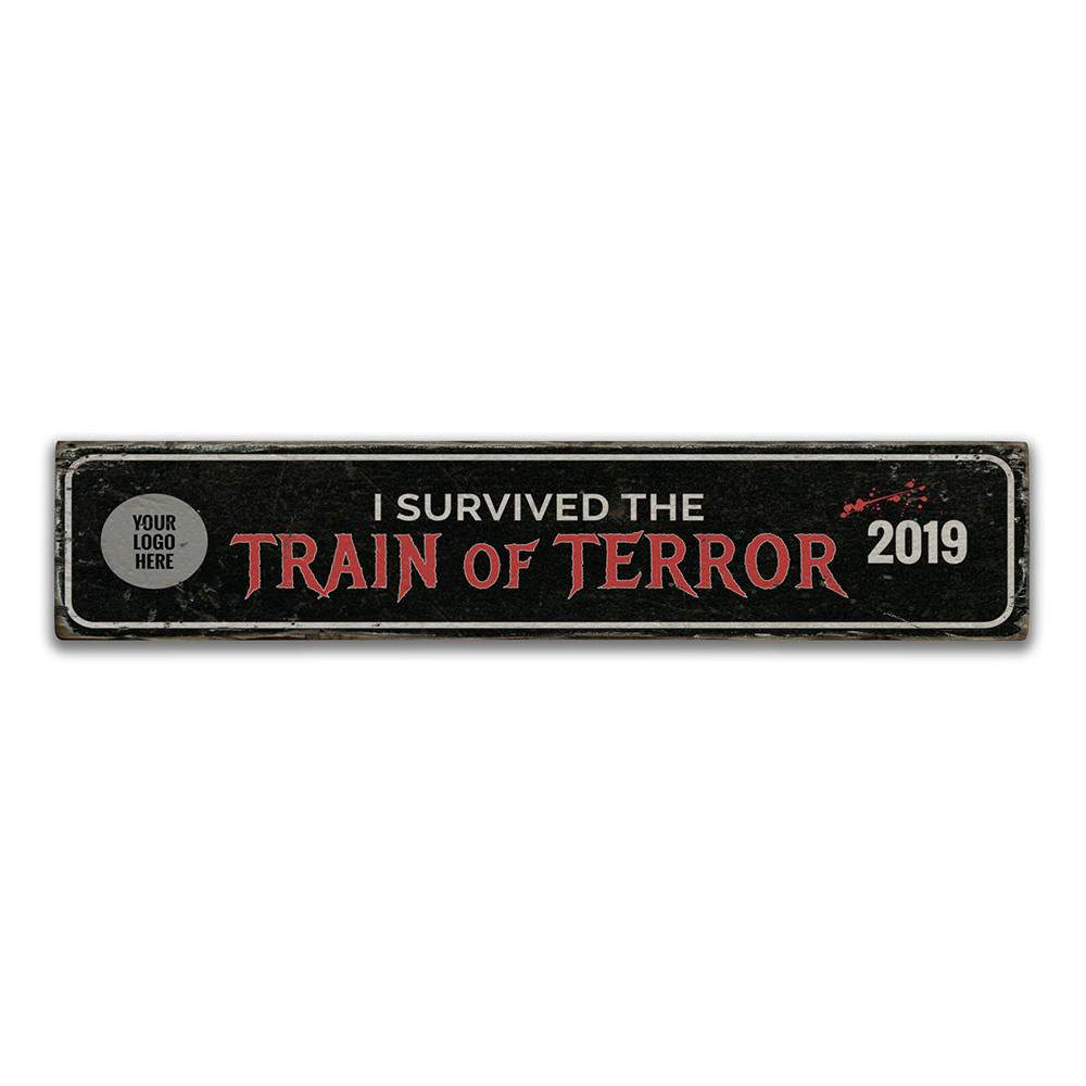 Train of Terror Vintage Wood Sign