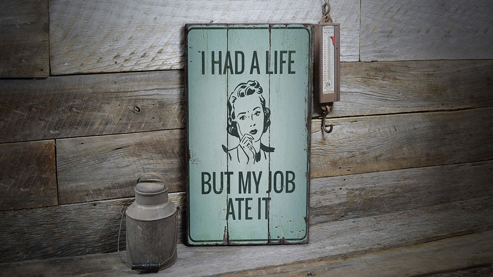Funny Adulting Rustic Wood Sign