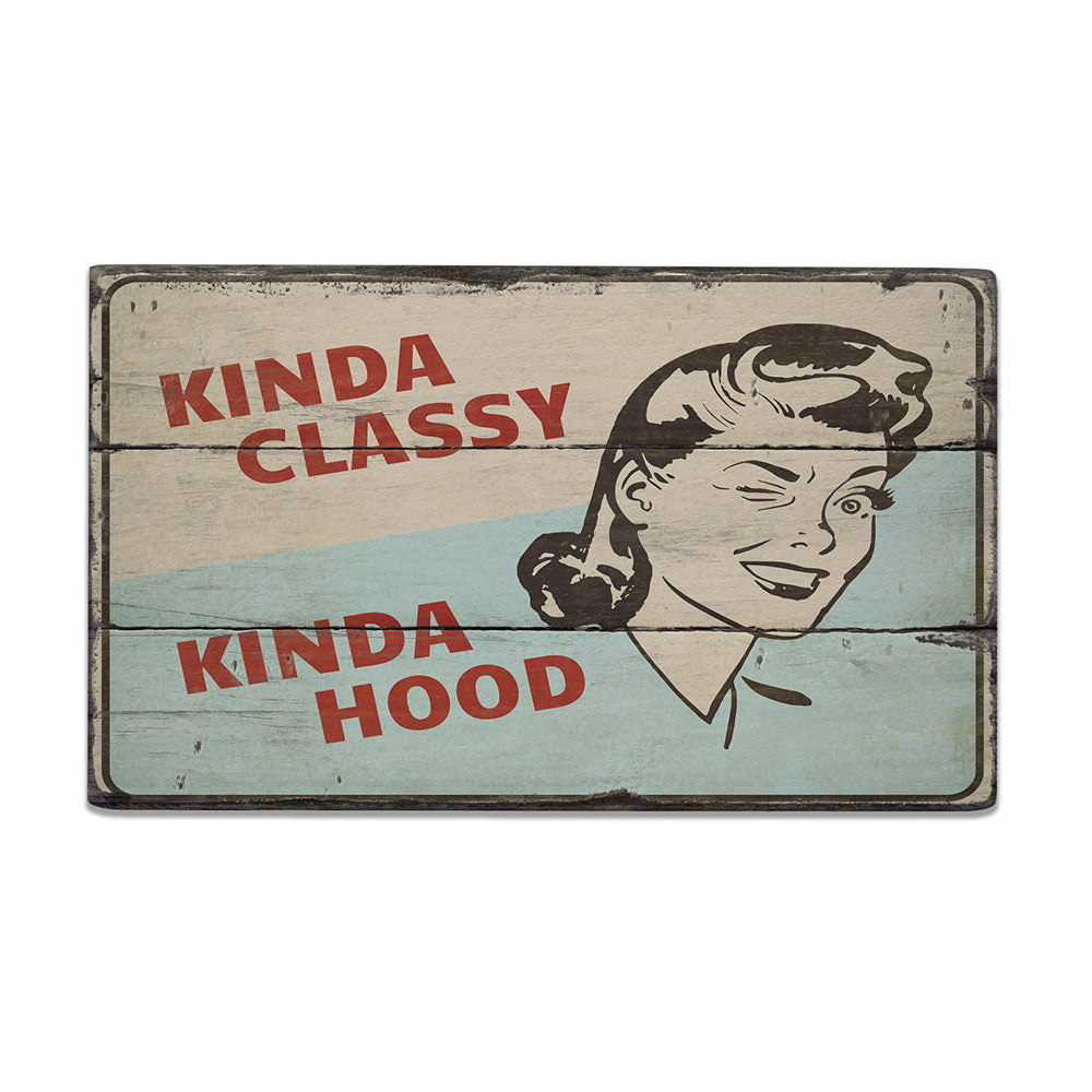 Amusing Character Vintage Wood Sign