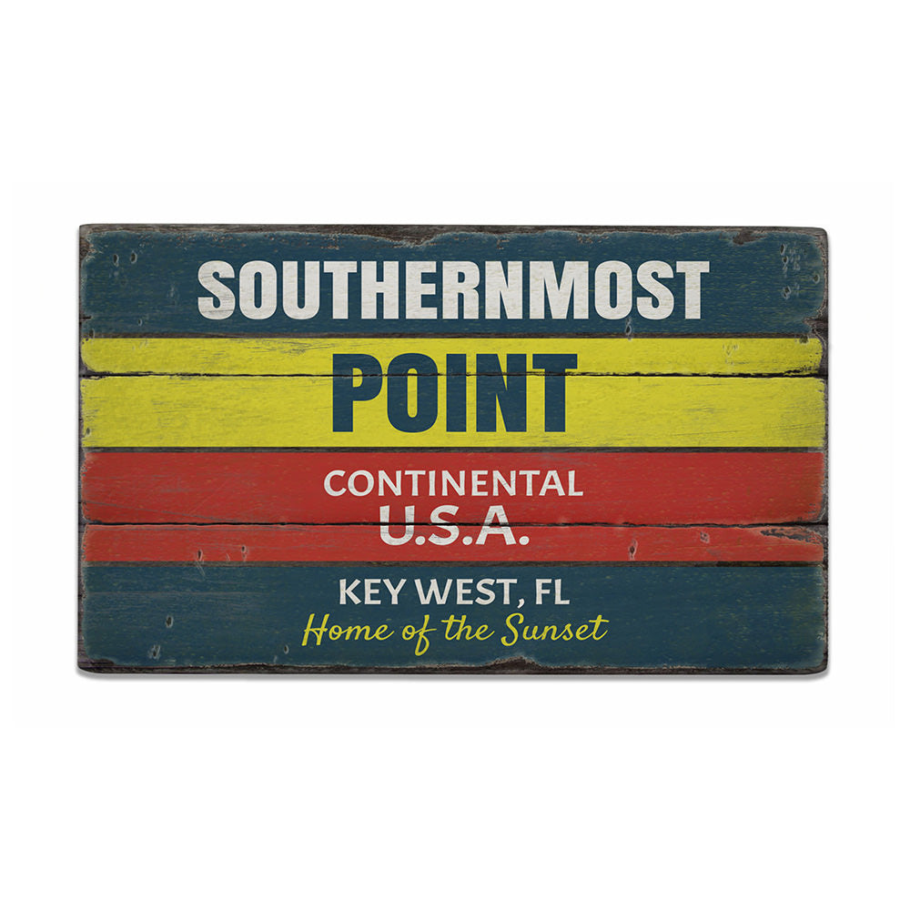 Southernmost Point Rustic Wood Sign