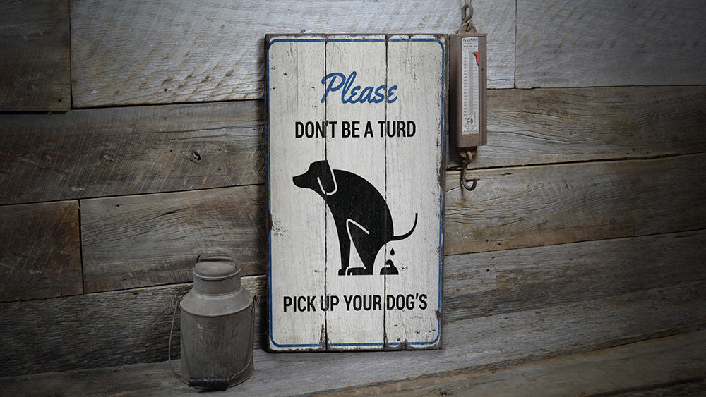 Dont Be a Turd Rustic Wood Sign
