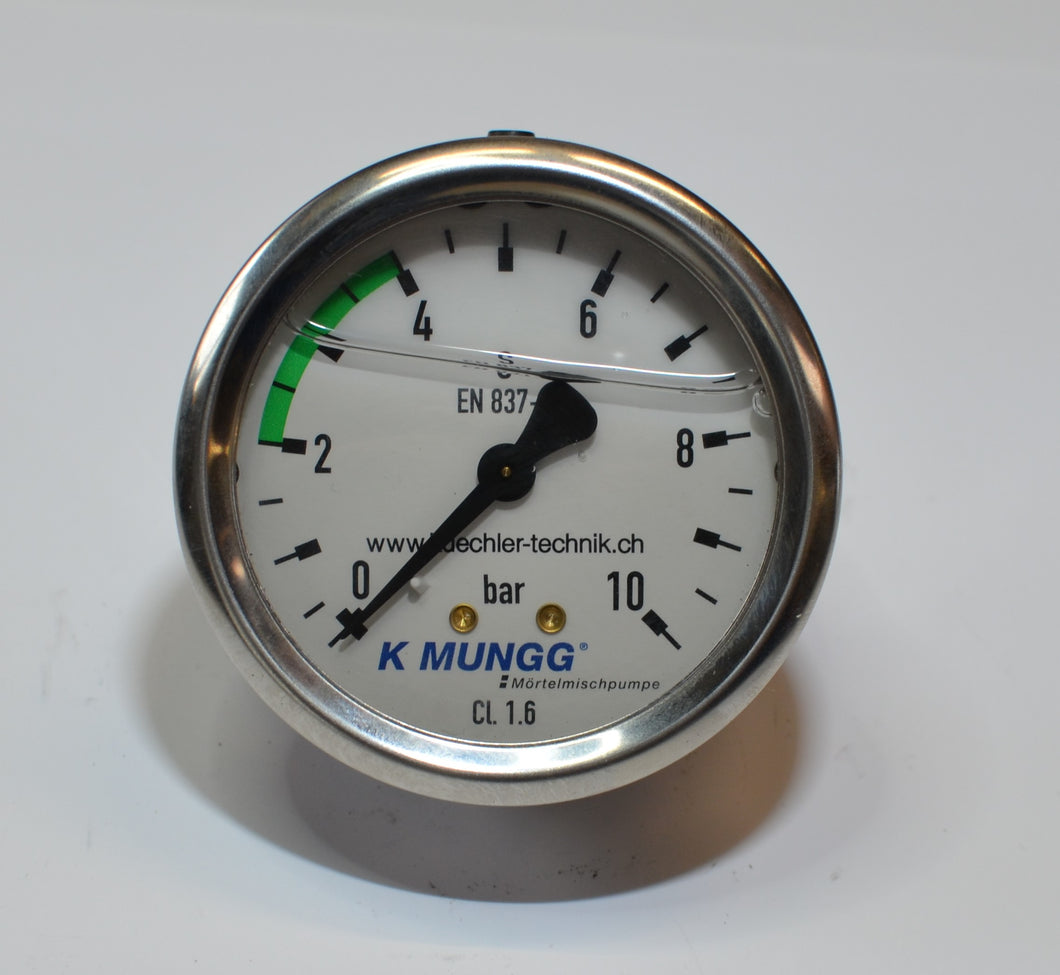 K MUNGG® Manometer 10 bar mit Glyzerin