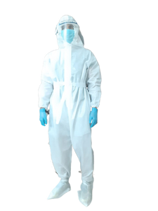 90 GSM , Laminated PPE KIT with SITRA Approved Fabric (Non Taping) - Pack of 3 Kits