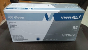 VWR CE Certified Nitril Gloves, Latex Free & Powder Free - Size M ( Pack of 100 )