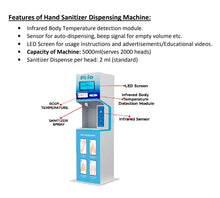 Load image into Gallery viewer, Automatic sanitizer dispensing cum hand sanitizer machine (PILO)