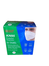 Load image into Gallery viewer, FDA & CE Certified KN 95 Mask with Nose pin (Pack of 50)