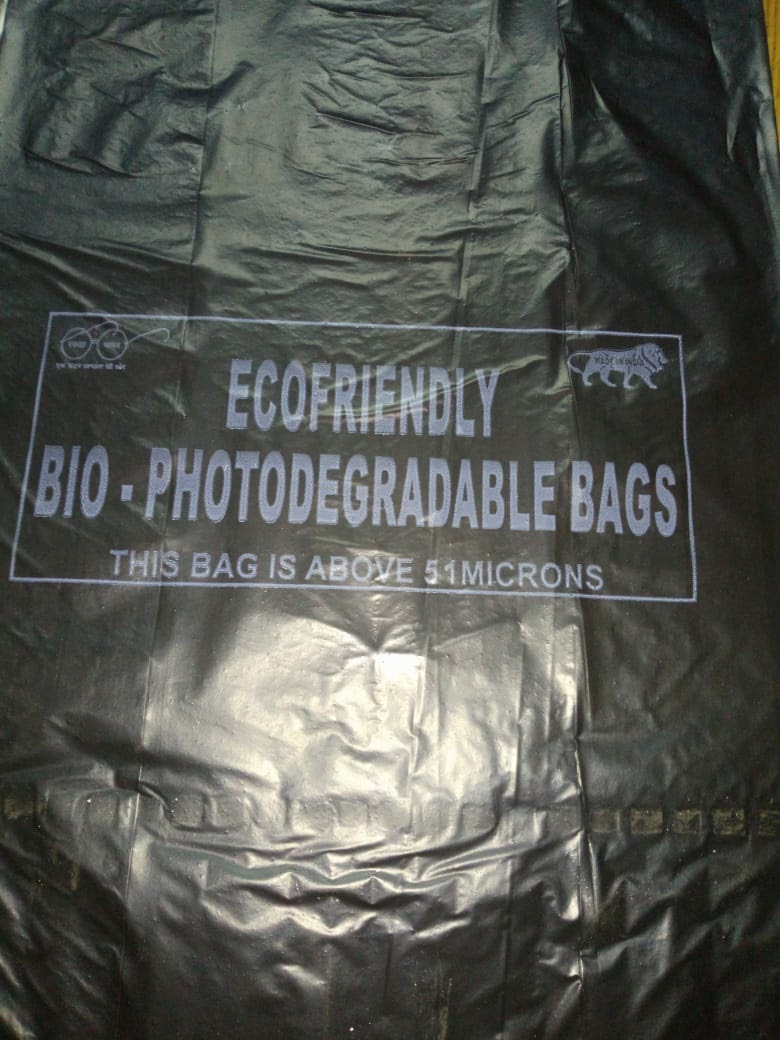 Ecofriendly Biodegradable Bags A1 Quality Black Coloured (Pack of 10kg)