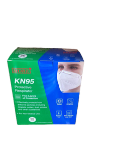 FDA & CE Certified KN 95 Mask with Nose pin (Pack of 50)