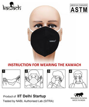 Load image into Gallery viewer, Kawach Masks Made in India ( Pack of 10)