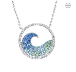 ShanOre SS Swarovski Wave Necklace