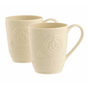 Belleek Classic Celtic 10oz. Mugs (Pair)