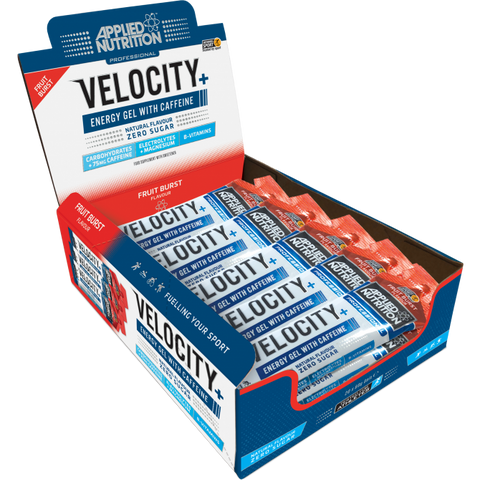 Applied Nutrition Velocity+ Caffeine Isotonic Energy Gel Box 20 x 60g