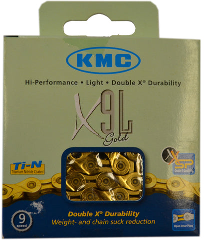 KMC 9 Speed Gold Chain 116L
