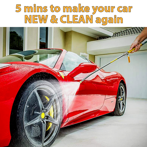 Car Cleaning with Hydro Jet High-Pressure Power Washer