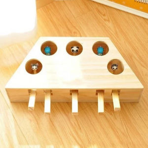 Wooden Cat Whack-A-Mole Toy