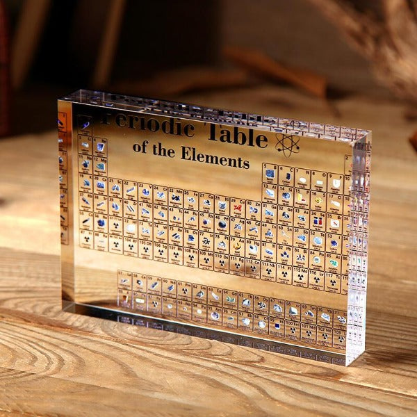 Collectible Periodic Table with REAL Elements