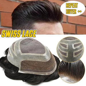 Forehead Adhesive Men's Hair Replacement