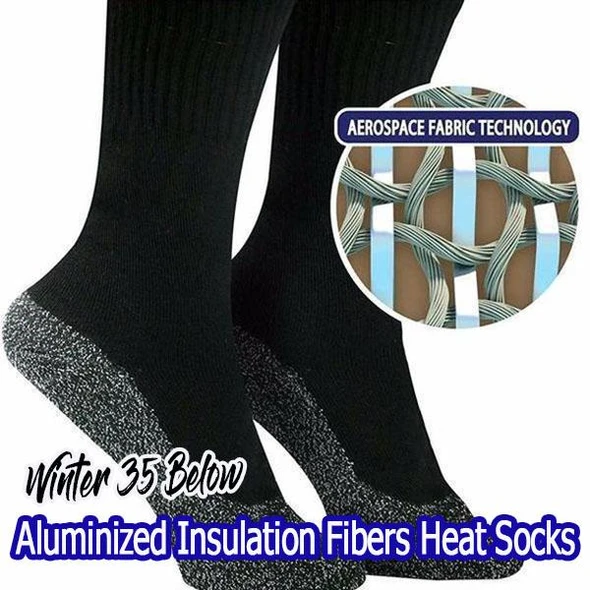 Winter 35-Below Aluminized Insulation Fiber Heat Socks
