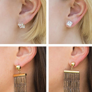 Earring Lifters for Stretched Earlobes
