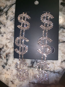 """Money talk"" earrings"