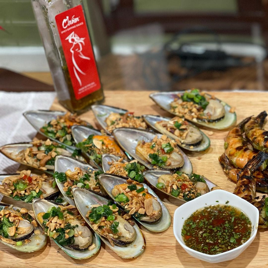 Vietnamese Style Grilled Mussels
