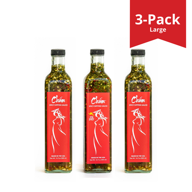 3-PACK LARGE Party Set - Chấm Spicy Dipping Sauce - Party Size