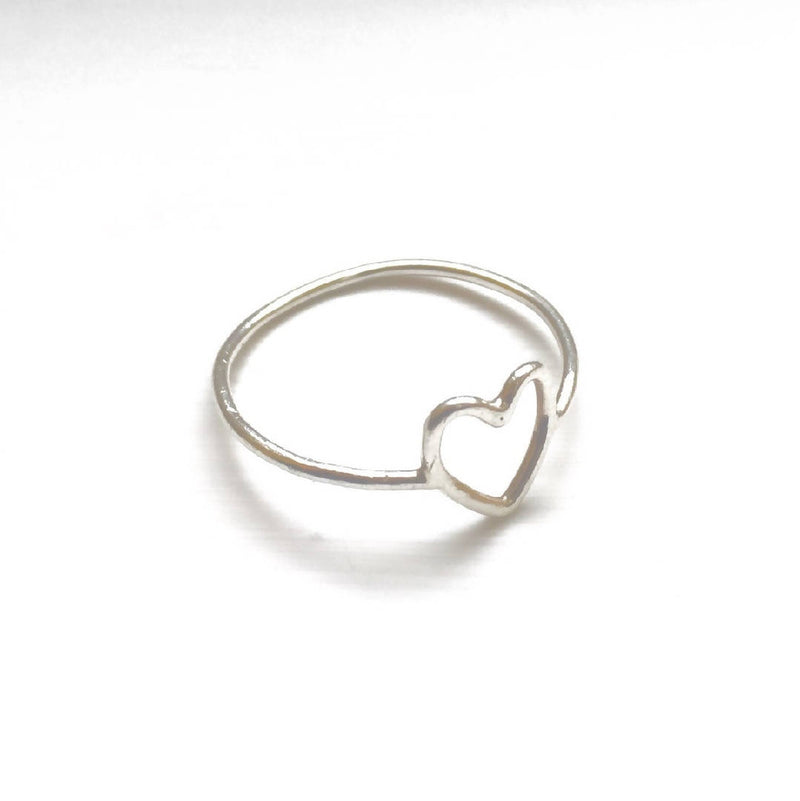 Love - Sterling Silver Heart Ring