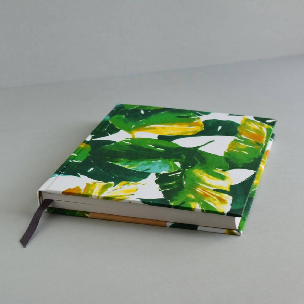 Tropical Foliage - Hardcover Notebook – A5 Lined 100% Recycled Paper