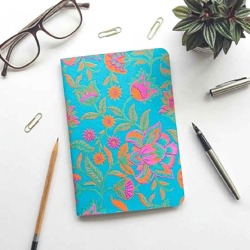 Scribblers - Floral Twist - A5 Lined 100% Recycled Paper