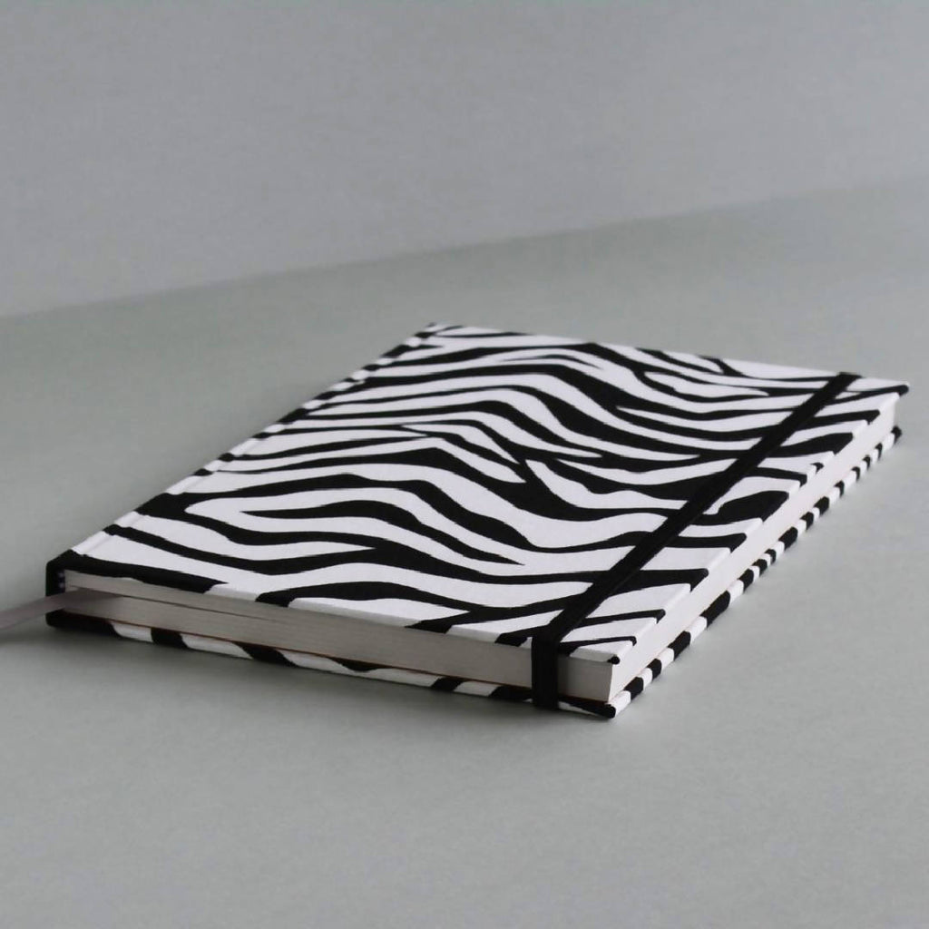The Zebra – Hardcover Animal Print Notebook – A5 Lined 100% Recycled Paper