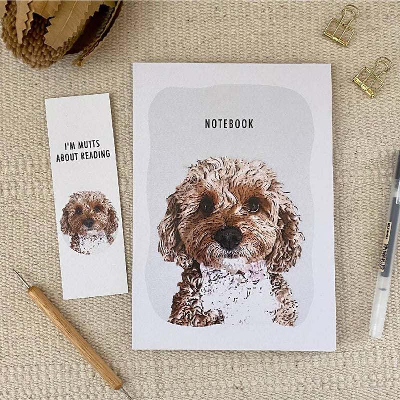 Pet Lover A5 Blank 100% Recycled Paper Notebook, Australian Made