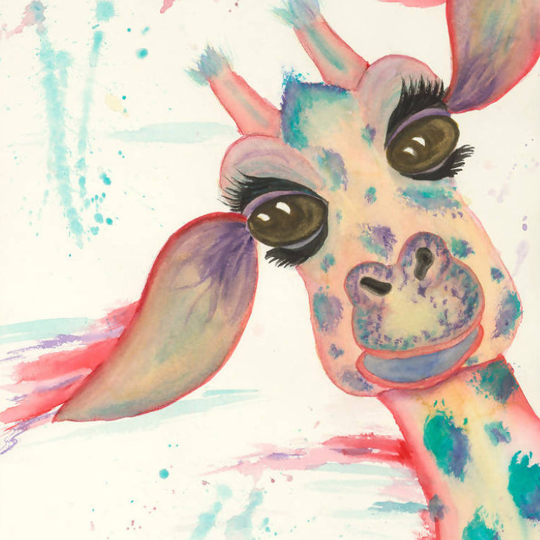 Ginny the Giraffe - Watercolour prinr