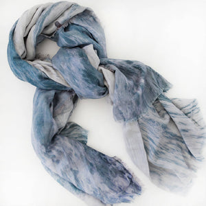 Wool Silk scarf in Between the Sets