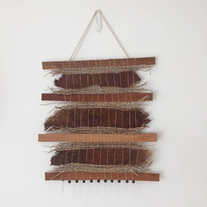 Mixed fibre wall hanging