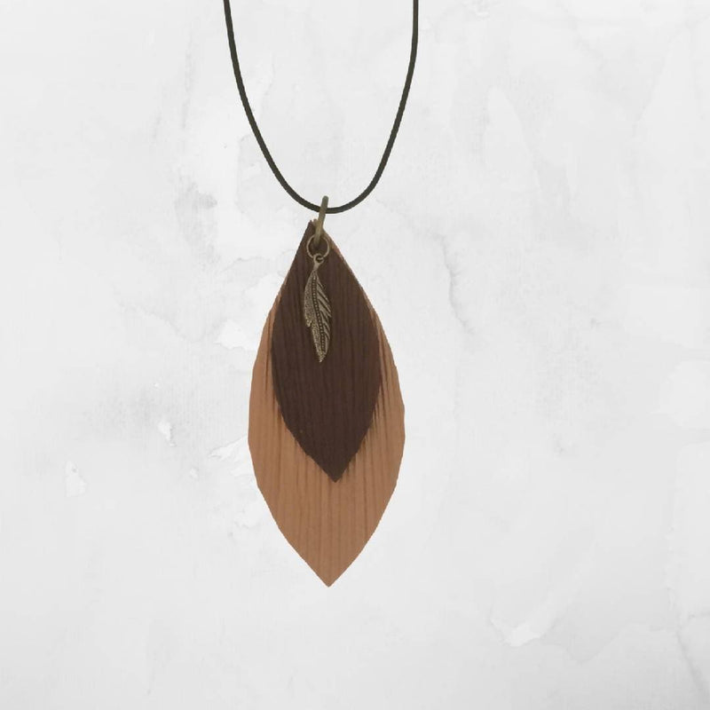 Palm frond necklace