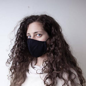 Face Mask - Black Linen Mix