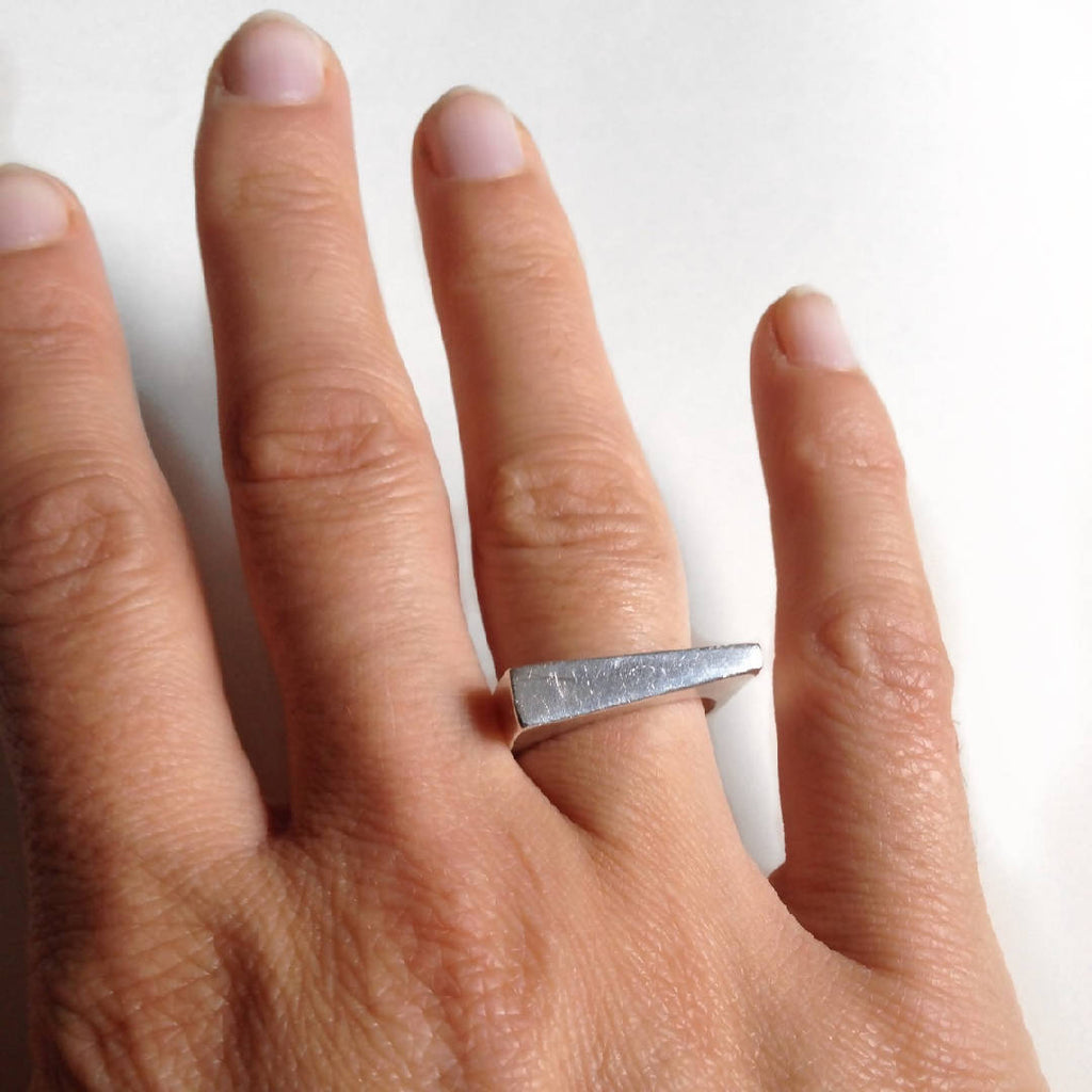 Lou - Sterling Silver Asymmetrical Ring