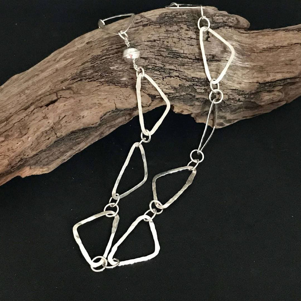 Sterling Silver Triangle Hammered Chain