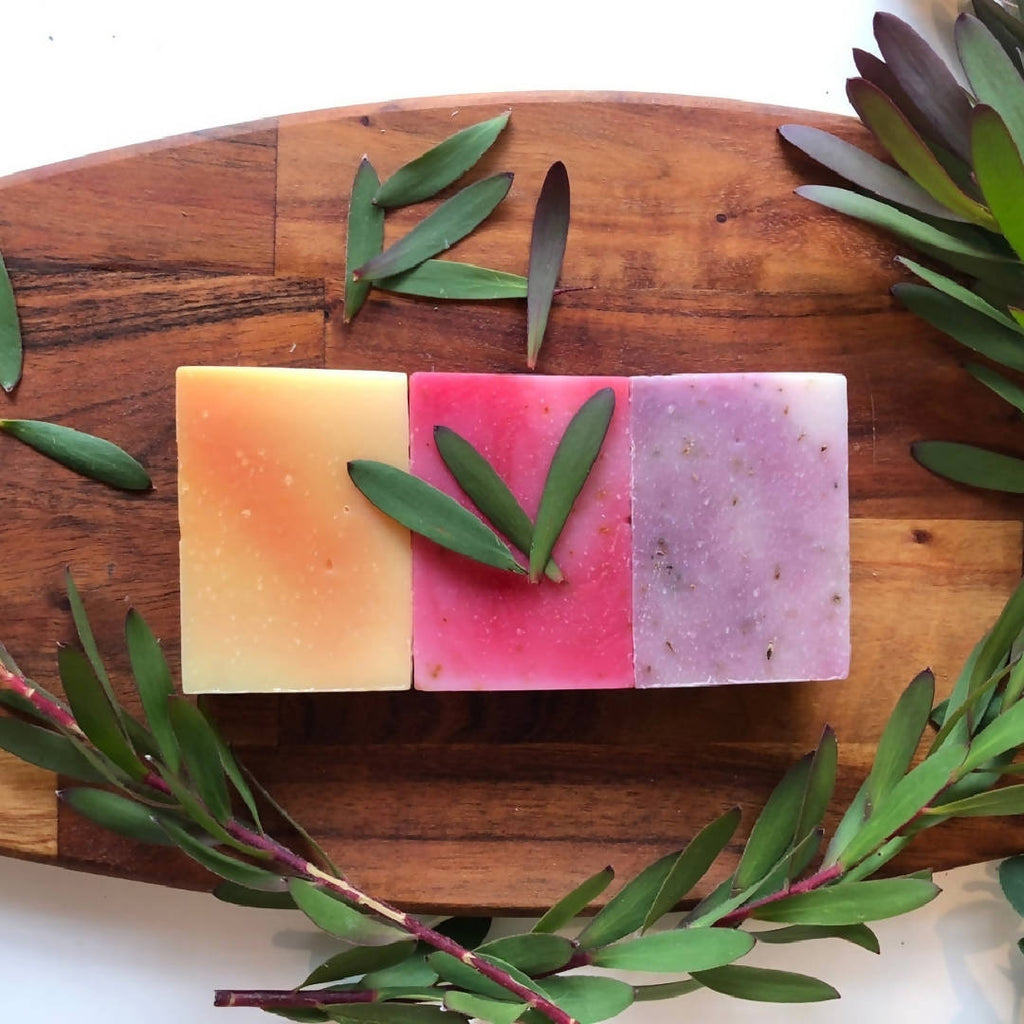 Floral Trio (Rose Petal, Lavender, Frangipani) Natural Soap Gift Box