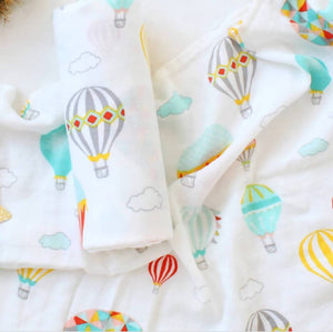 Hot Air Balloon Muslin Blanket
