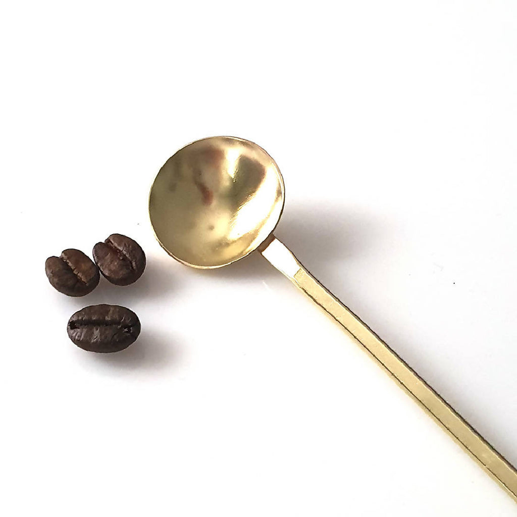 Hand forged brass latte spoon