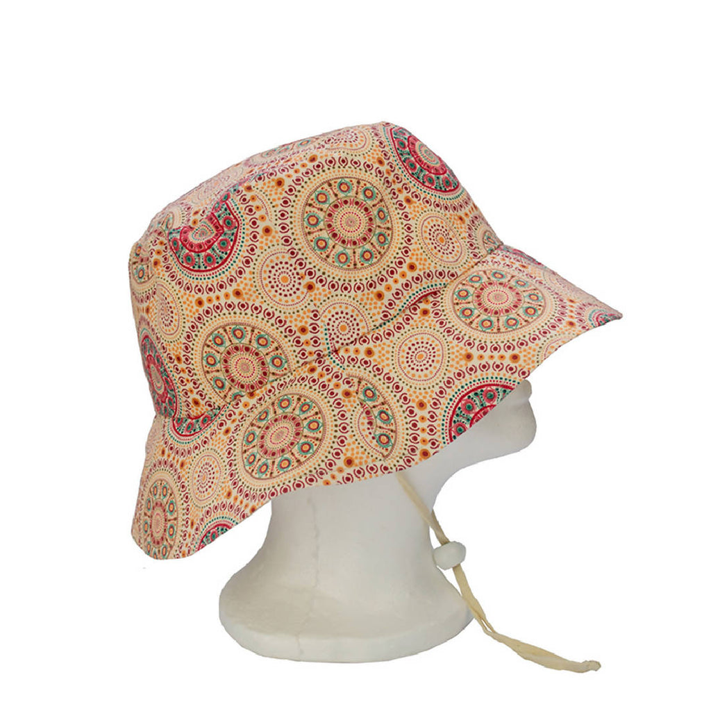 Sun Bucket Hats – Bush Berries Ecru by Marlene Doolan