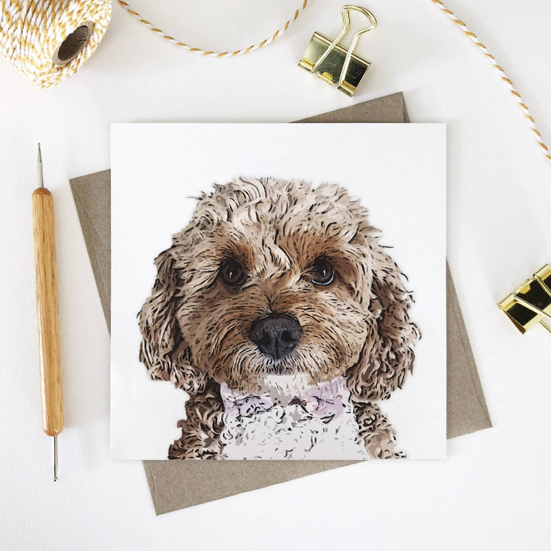Dog Lover Square Greeting Cards