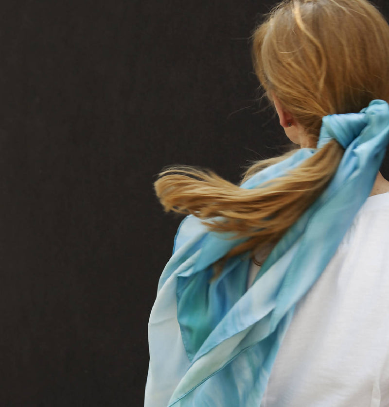 Silk Scarf in Tamarama Summer