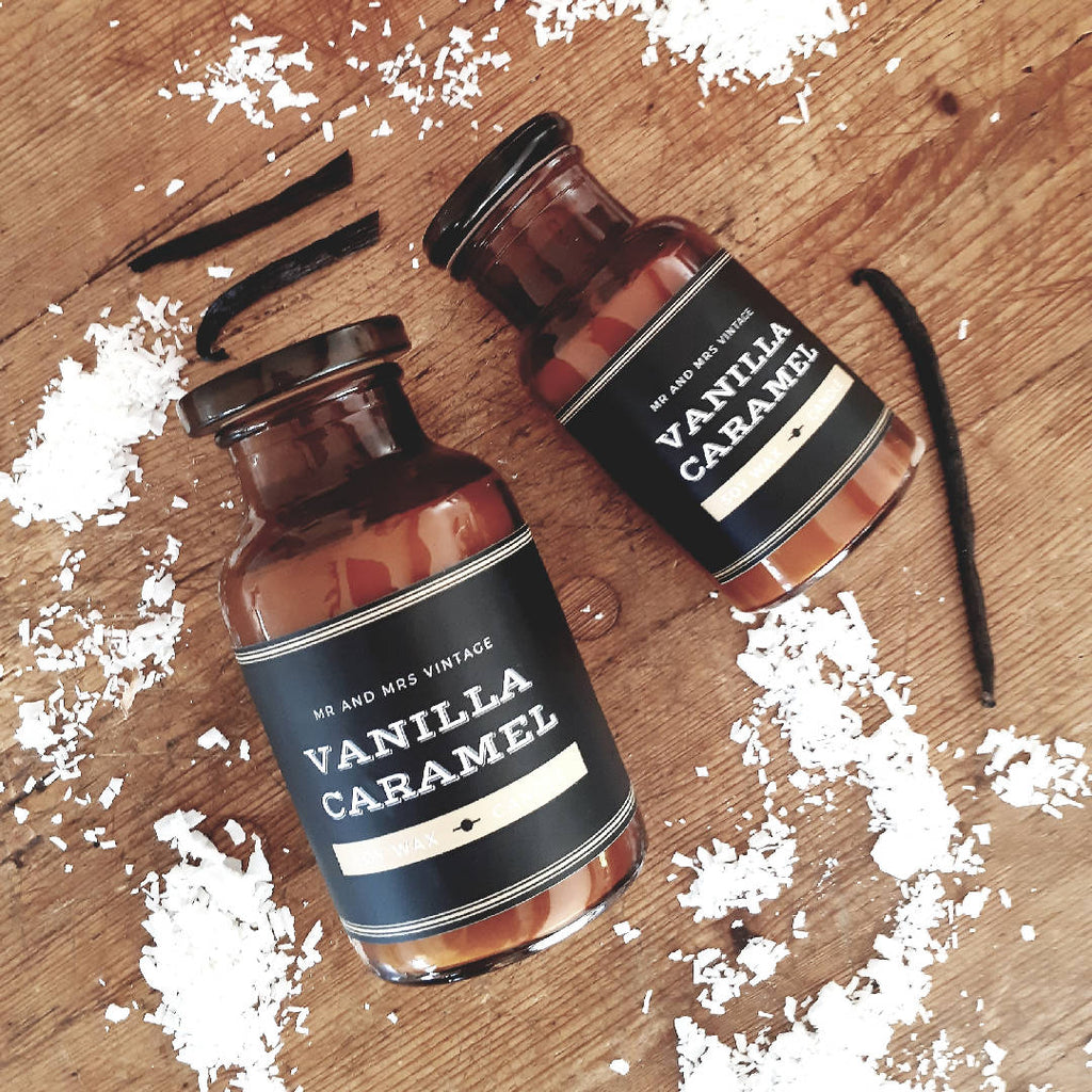 Amber Apothecary Candle - Tobacco + Hay
